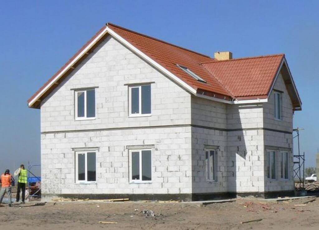 Дом из газоблока газобетона