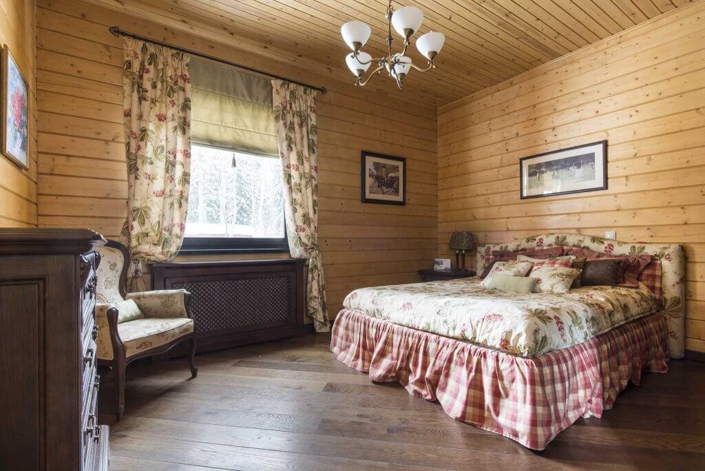 Оздоблення вагонкою спальні