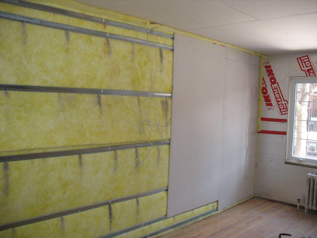 Шумоизоляция и звукоизоляция стен