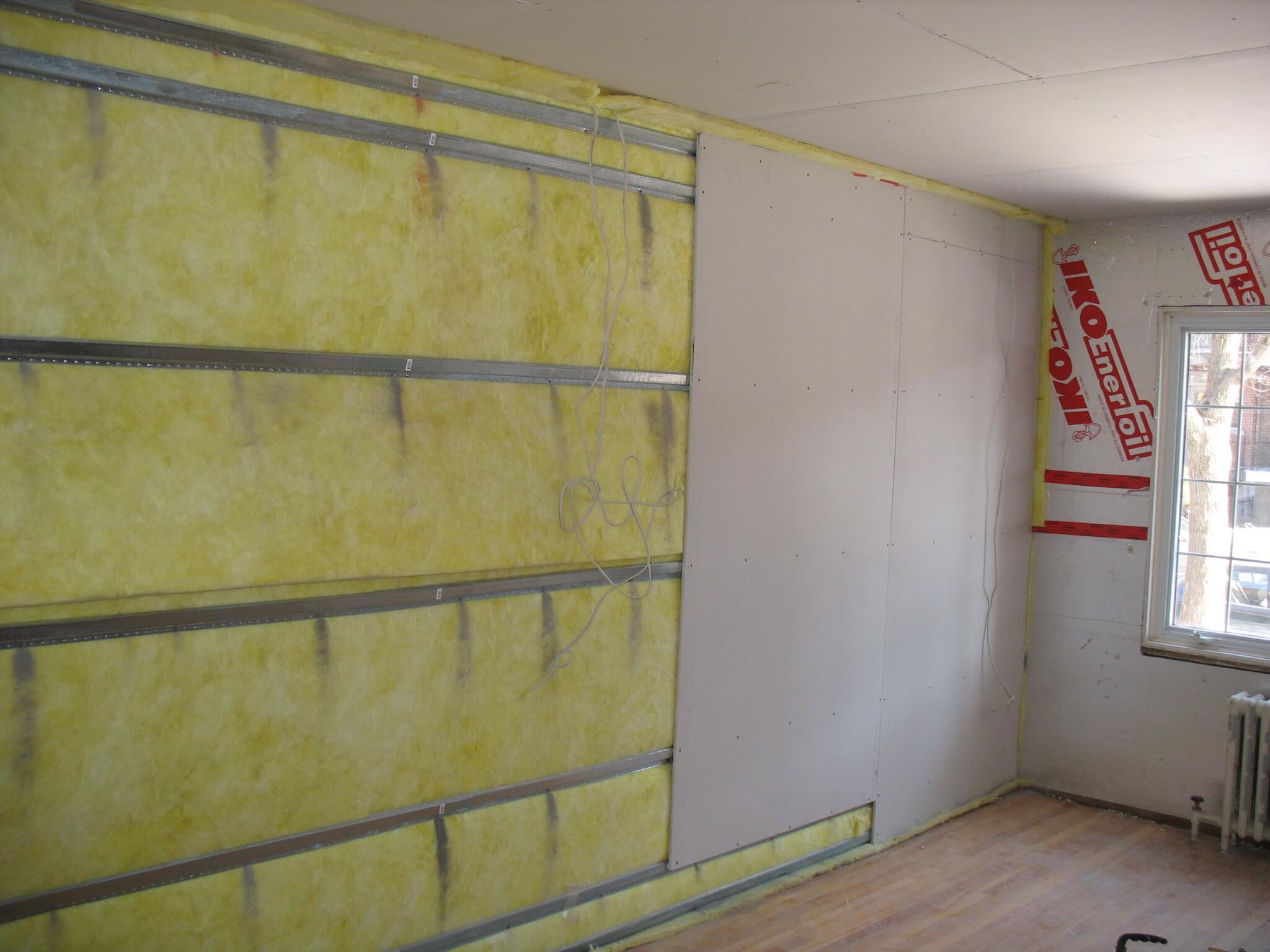 Ремонт звукоизоляция стен