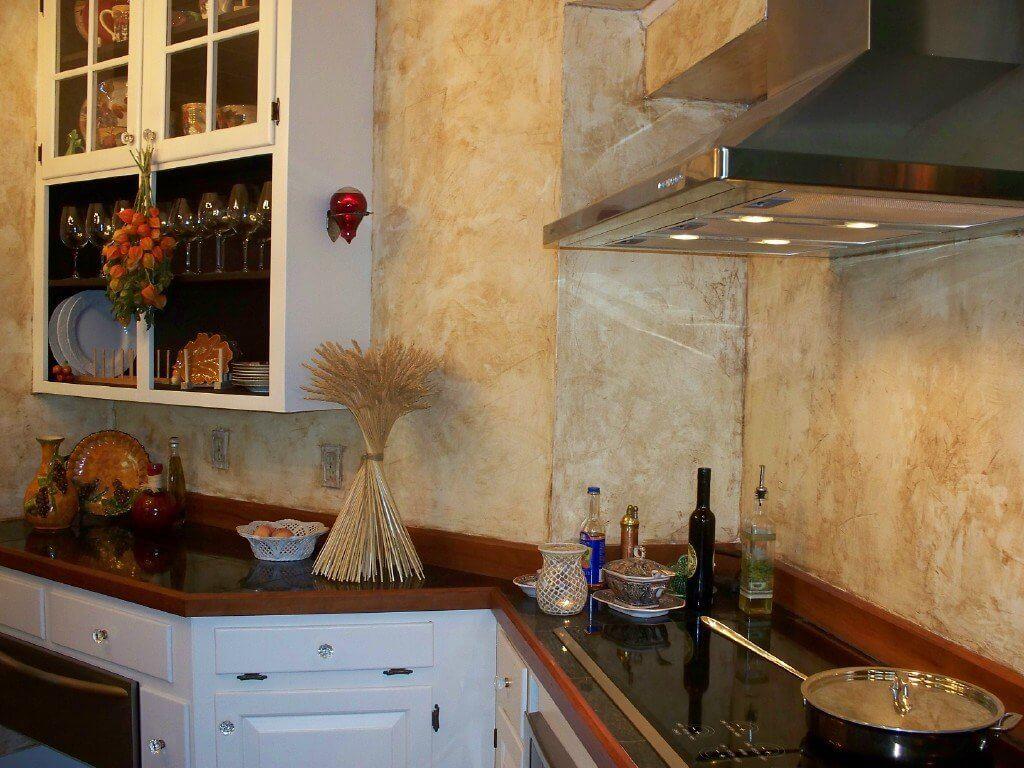 Декоративна штукатурка на кухні: фото і різновиди