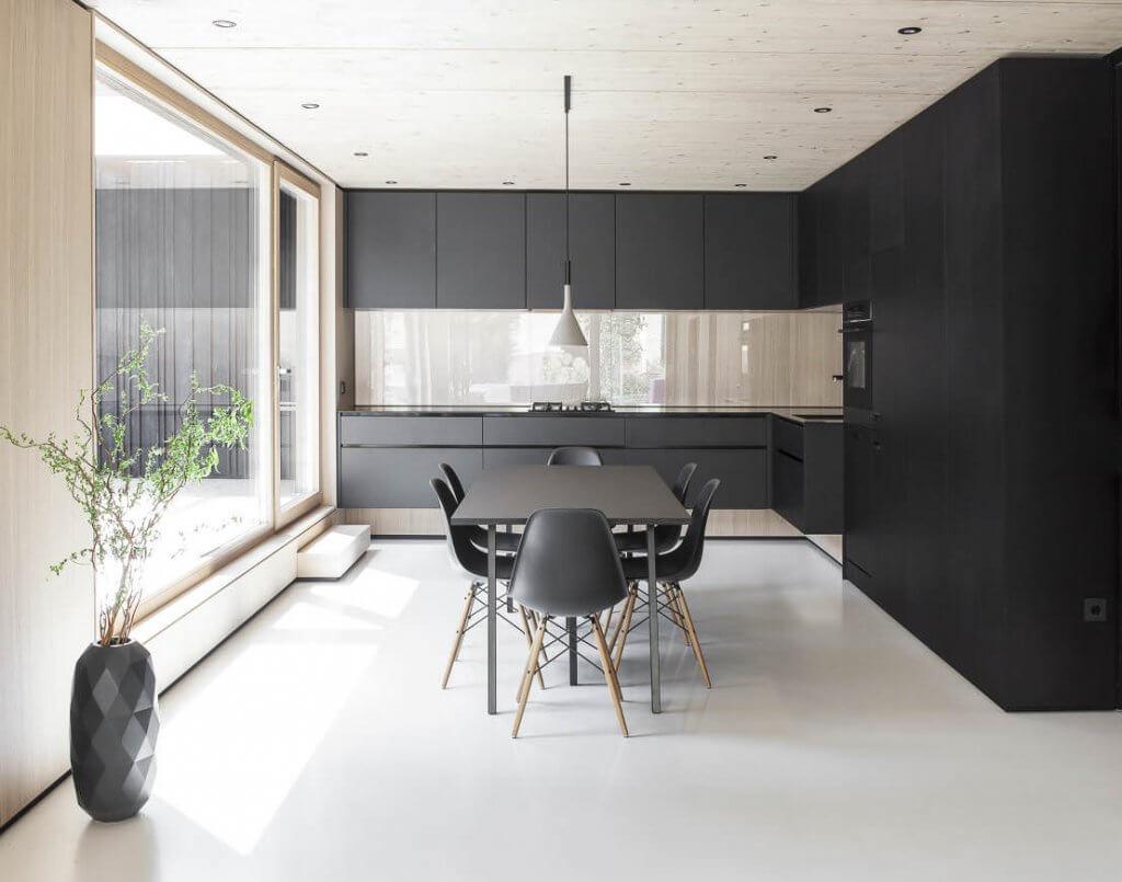 Мінімалізм в інтер'єрі кухні