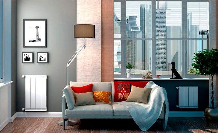 Алюминиевые радиаторы отопления в интерьере