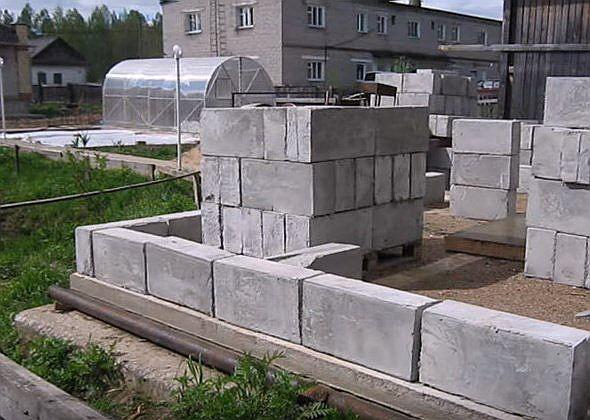 Баня из пеноблока своими руками стены