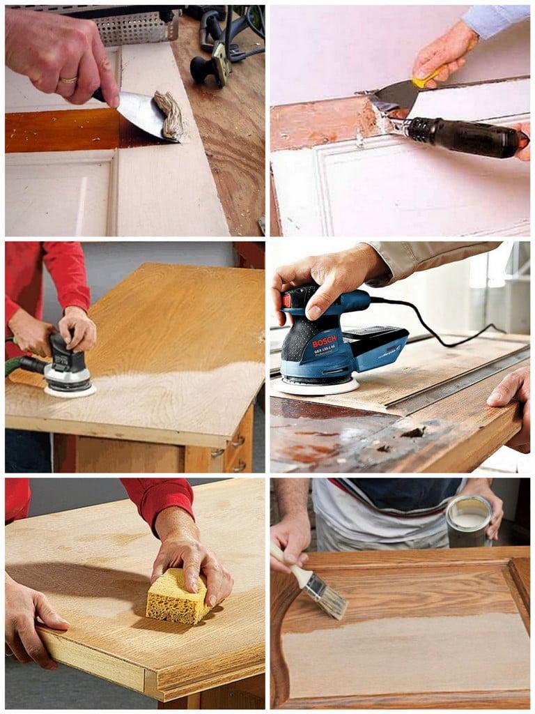 Как обновить деревянную дверь своими руками 398
