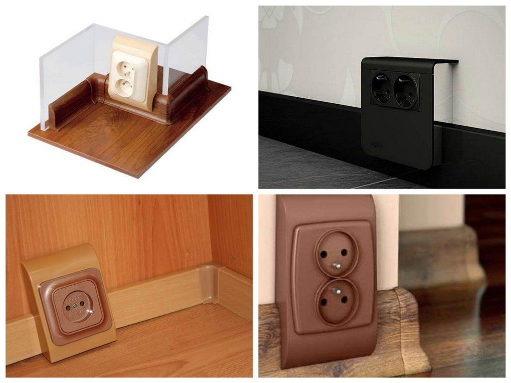 Плінтусні і підлогові електричні розетки