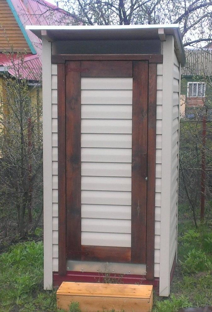 Туалет для дачи из дерева своими руками фото 63