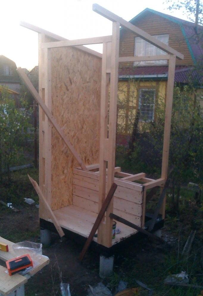Туалет для дачи из дерева своими руками фото 31