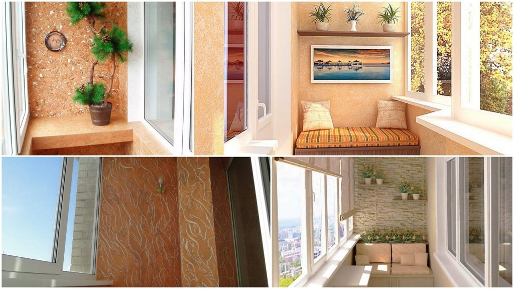 Декоративна штукатурка на балконі