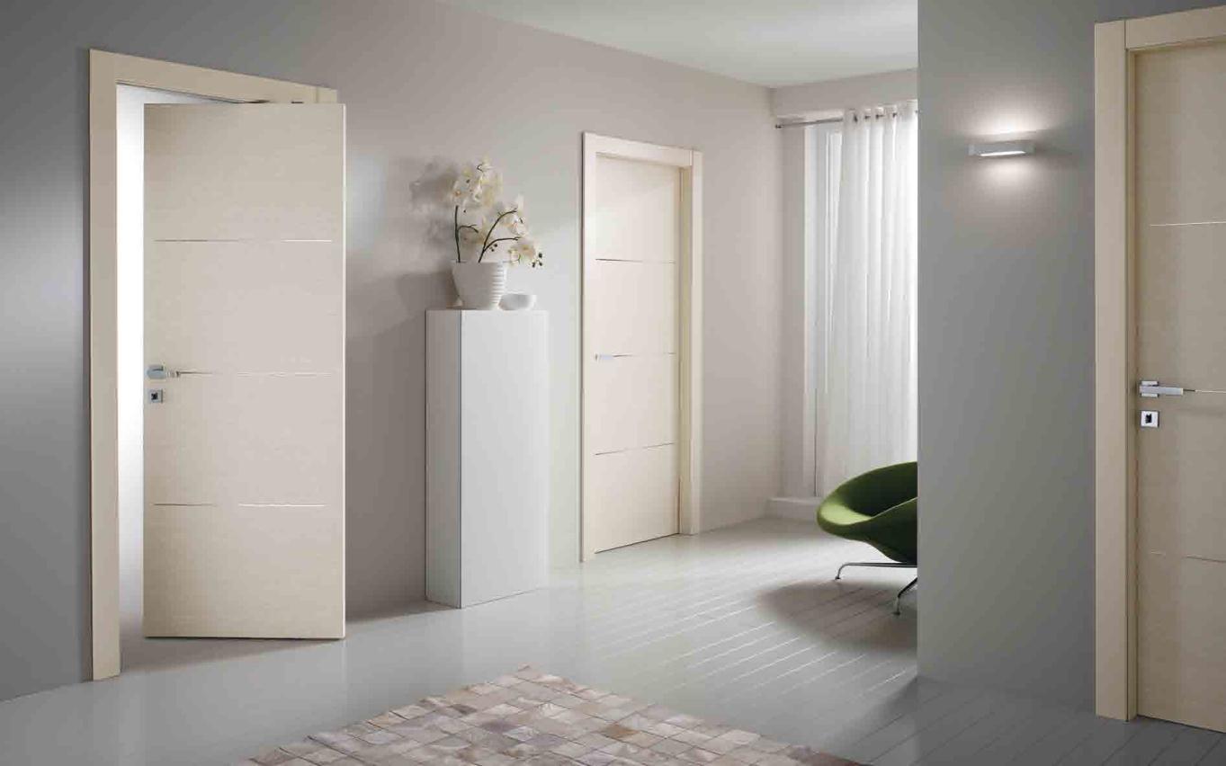 Белые двери модерн в интерьере фото