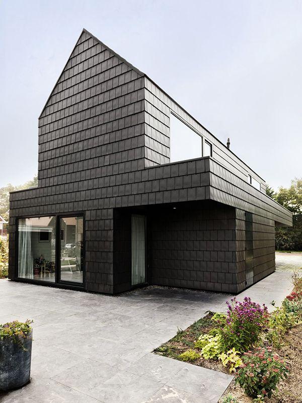 Керамическая плитка на фасаде дома