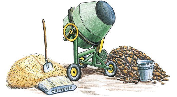 Цемент пісок і щебінь
