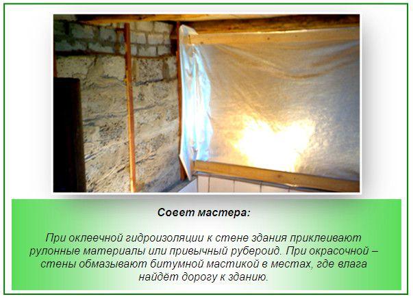 Гідроізоляція стін лазні