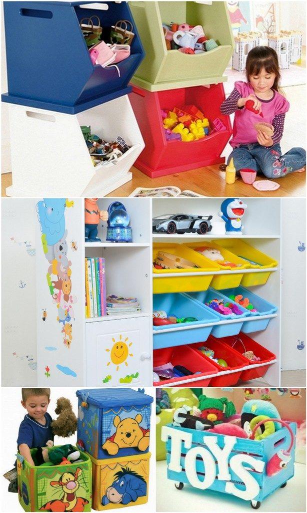Коробки для іграшок в дитячій