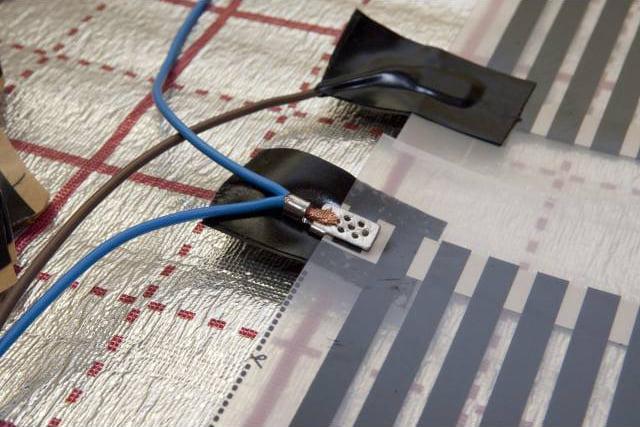 Підключення клеми інфрачервоної теплої підлоги
