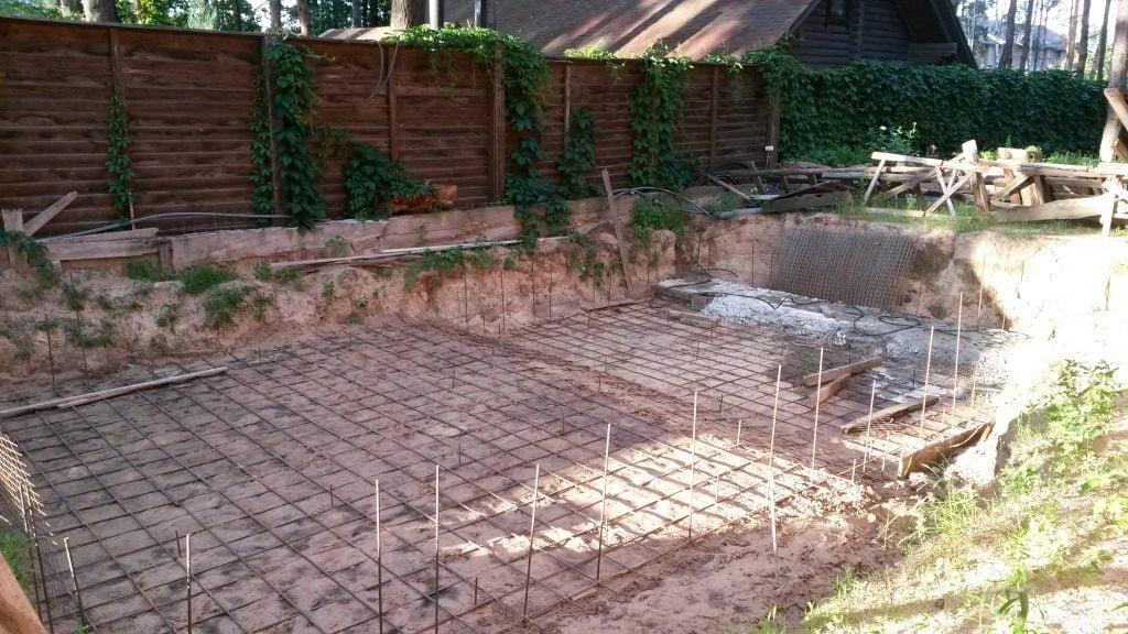 Постройка бассейна на даче поэтапно