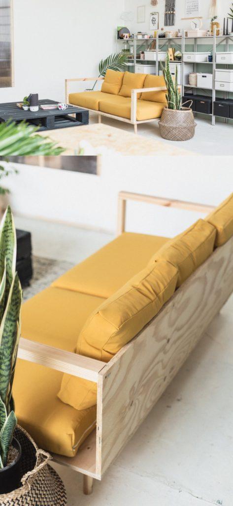 Як зробити диван з фанери