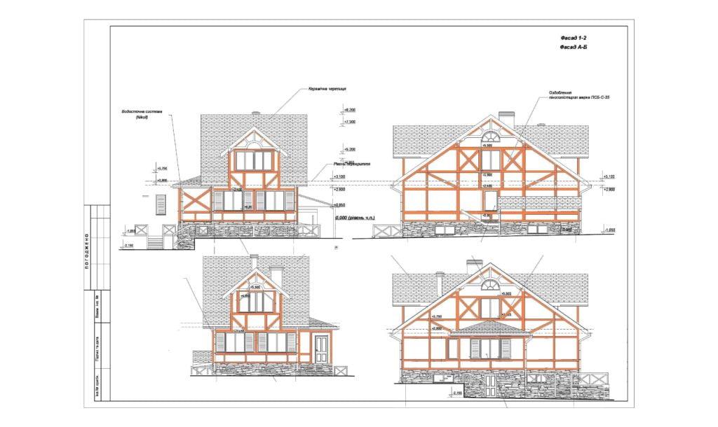 Проект фахверкового дома