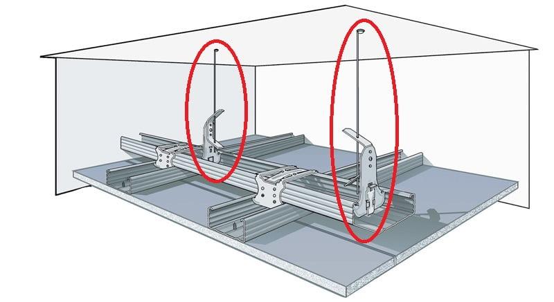 Анкерный подвес для потолочных несущих