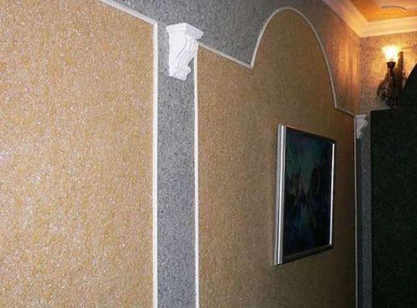 Мозаичная декоративная штукатурка в интерьере