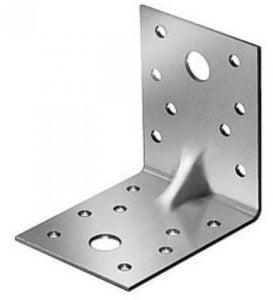 Уголок металлический равнополочный с ребром жесткости