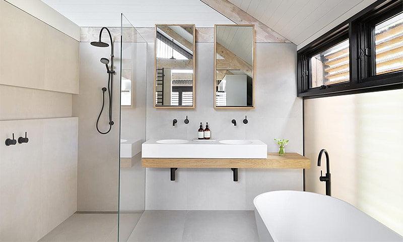 Ванна в скандинавському стилі