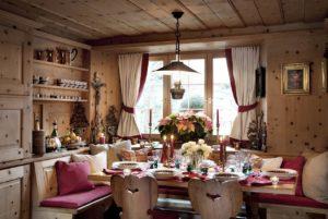 Дачный интерьер в стиле шале