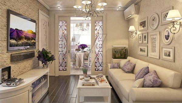 Дизайн вітальні в стилі прованс