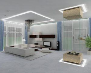 Интерьерное освещение в гостиной