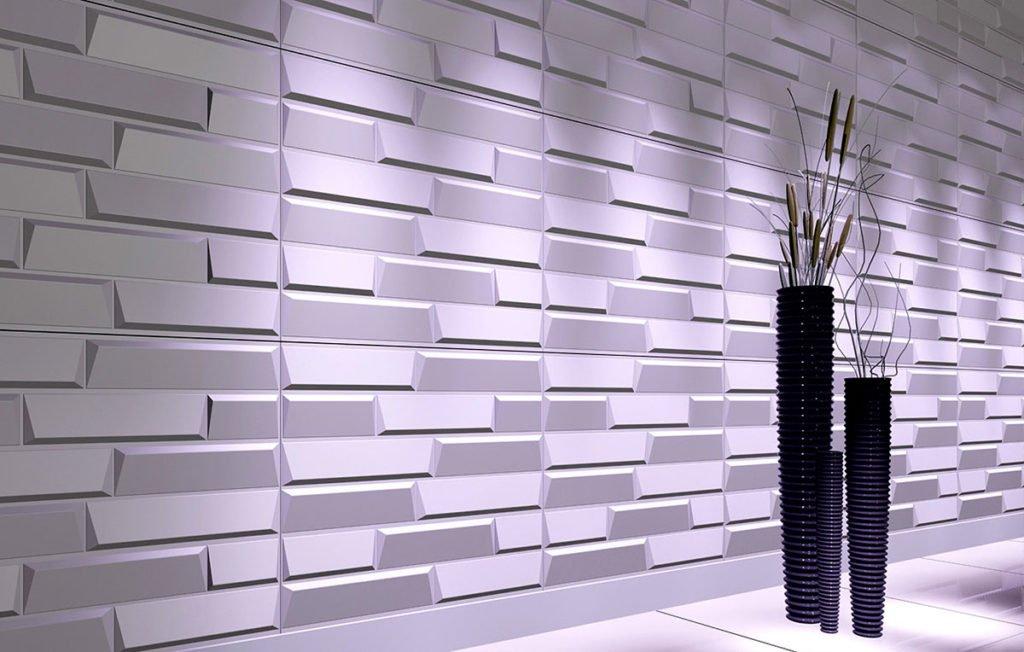 3-D панелі для стін. Види, переваги і недоліки. Фото