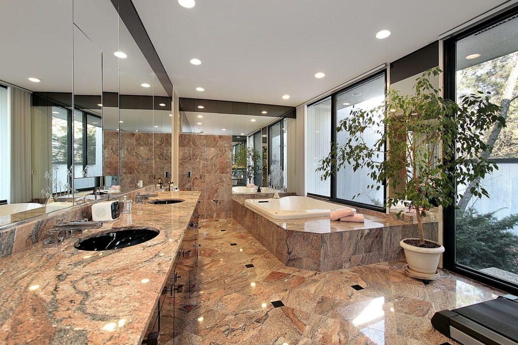 Граніт в інтер'єрі ванної