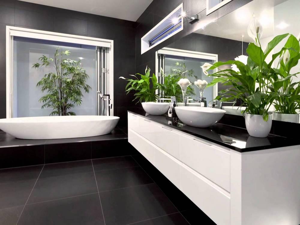 Рослини в інтер'єрі ванної