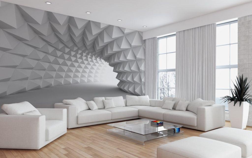 Фотошпалери які розширюють простір в інтер'єрі вітальні