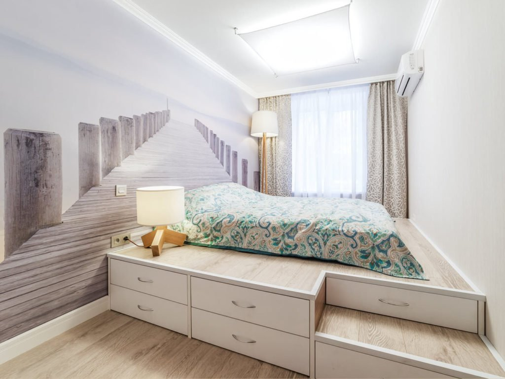 Фотошпалери які розширюють простір в інтер'єрі спальні
