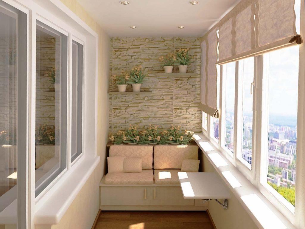 Отделка потолка балкона и лоджии гипсокартоном