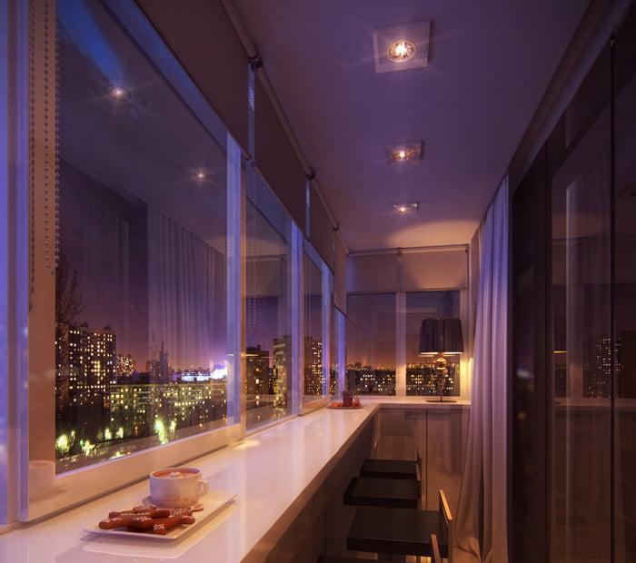 Оздоблення стелі балкона і лоджії гіпсокартоном