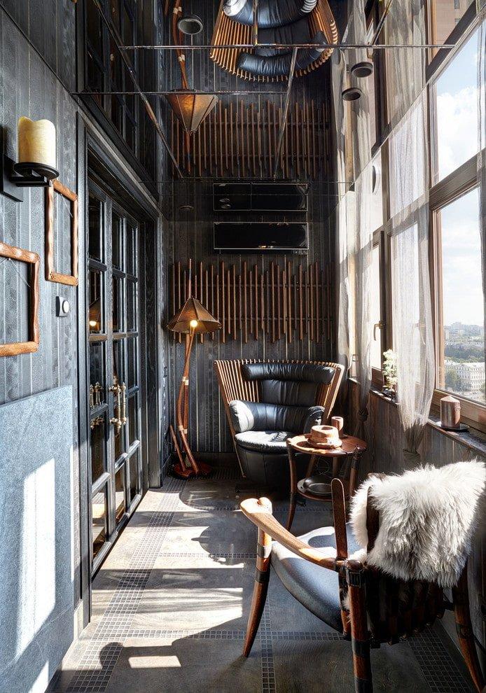 Оздоблення стелі балкона і лоджії металевими панелями
