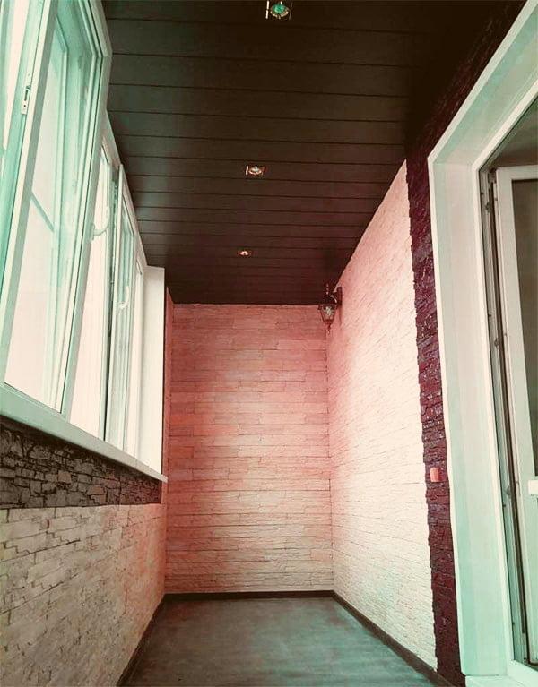 Оздоблення стелі балкона і лоджії пластиковими панелями