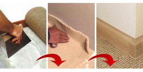 Укладання ковроліну на клей