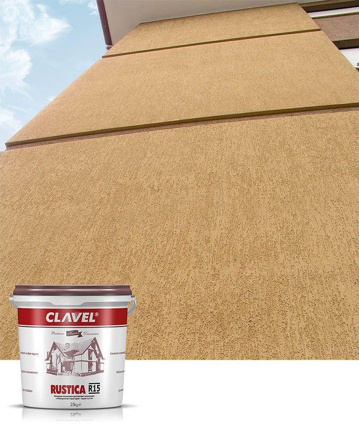 Акриловая штукатурка короед Clavel Rustica обеспечивает фасадам защиту на 30 лет без выгорания цвета