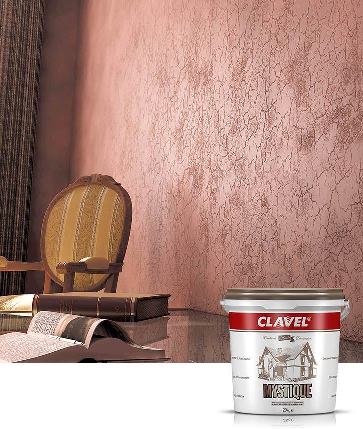 Декоративная штукатурка Clavel Mystique воспроизводит эффект кожи