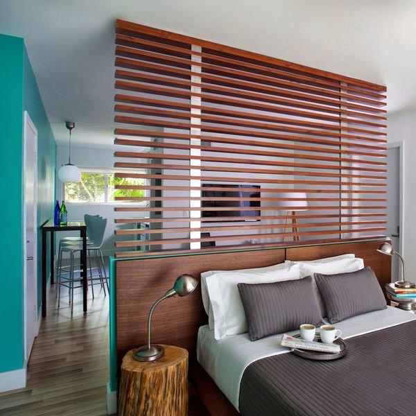 Дизайн маленької квартири. Спальня студія