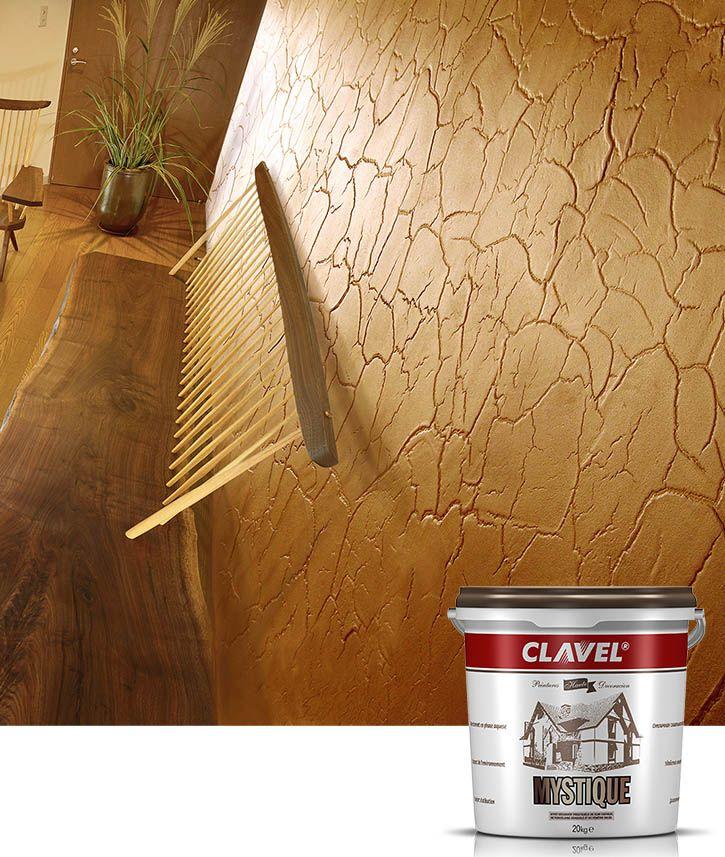 Фактурная штукатурка Clavel Mystique создает эффект трещин, не снижая при этом прочность стены