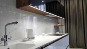 Подсветка рабочей поверхности на кухне светодиодной лентой