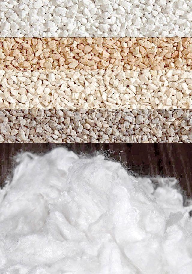 В состав декоративных штукатурок входят натуральные наполнители и волокна