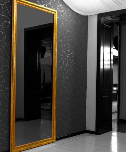 Скрытые двери с зеркалом