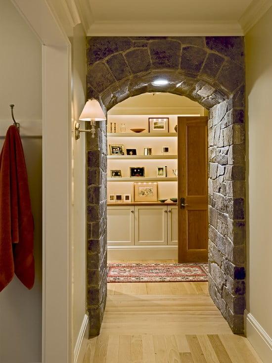 Арка на кухню из декоративного камня