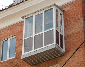 Частичное остекление балкона