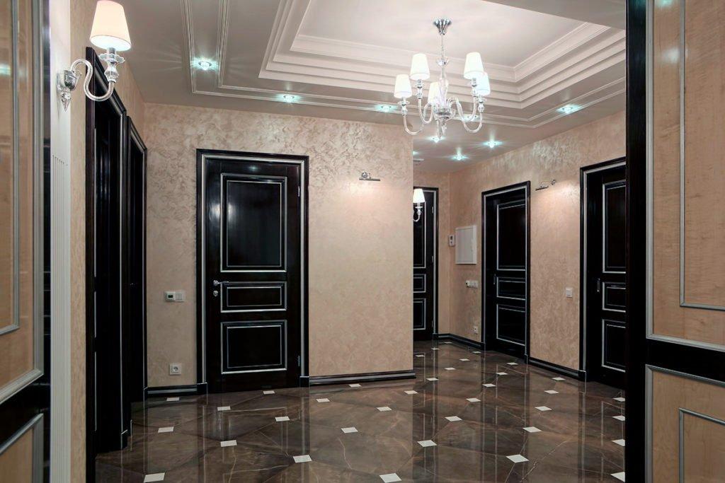 Деревянные классические межкомнатные двери в интерьере
