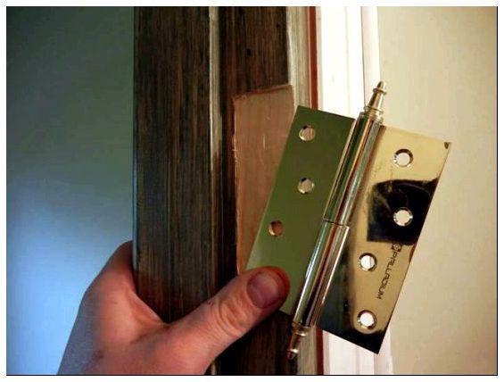 Углубление петель межкомнатной двери